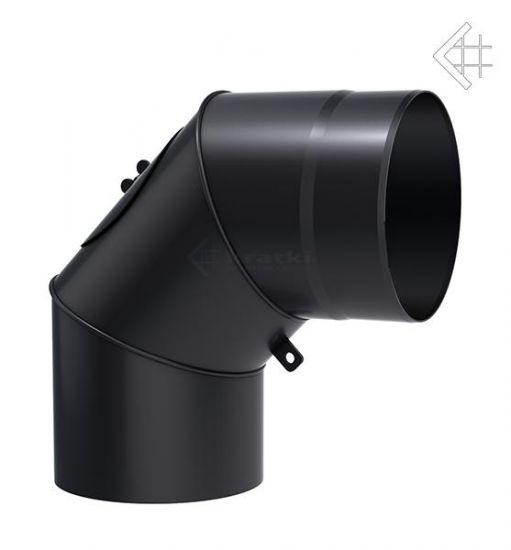 Коліно сталеве для димоходу 90° 180 мм.