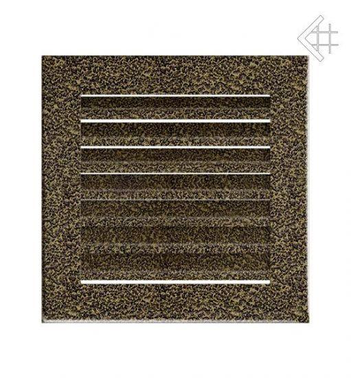 Решётка вентиляционная 17/17 FRESH чёрно золотая