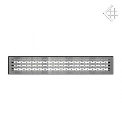 Решётка вентиляционная напольная FLOOR 9x60 cm - шлифованая